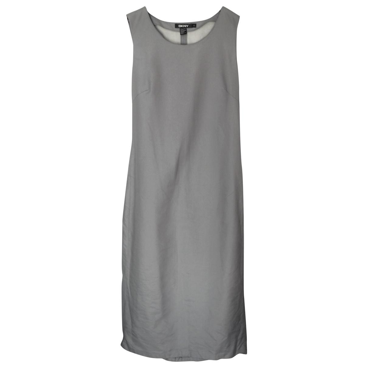 Dkny \N Kleid in  Grau Baumwolle - Elasthan