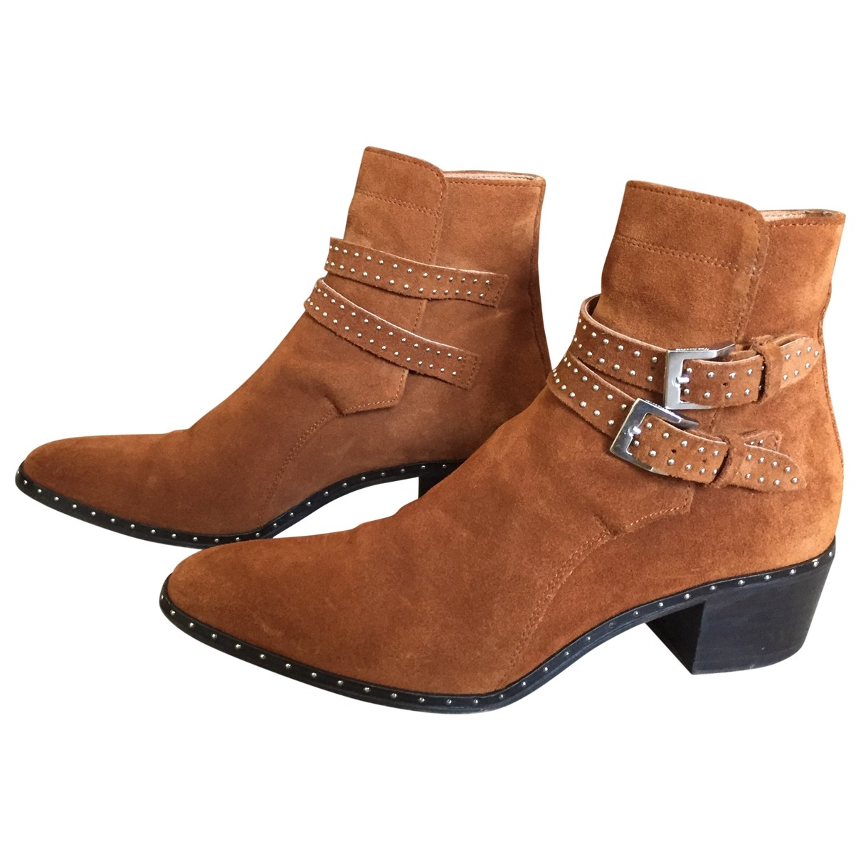 The Kooples \N Camel Leather Ankle boots for Women 38 EU