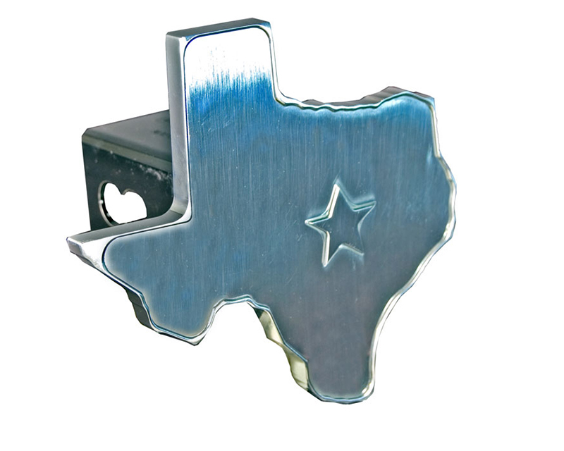 Defenderworx 14006 Texas 3D Star - 2-Inch Billet Hitch Cover