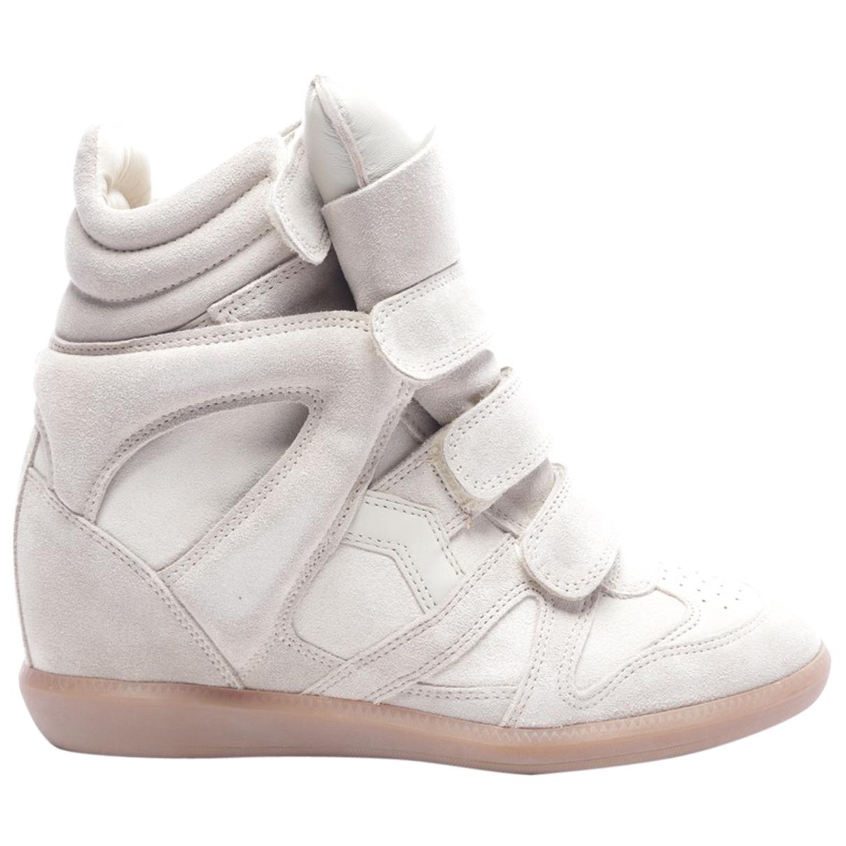 Isabel Marant - Baskets   pour femme en cuir - gris