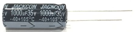 RS PRO 100μF Electrolytic Capacitor 63V dc, Through Hole (1000)