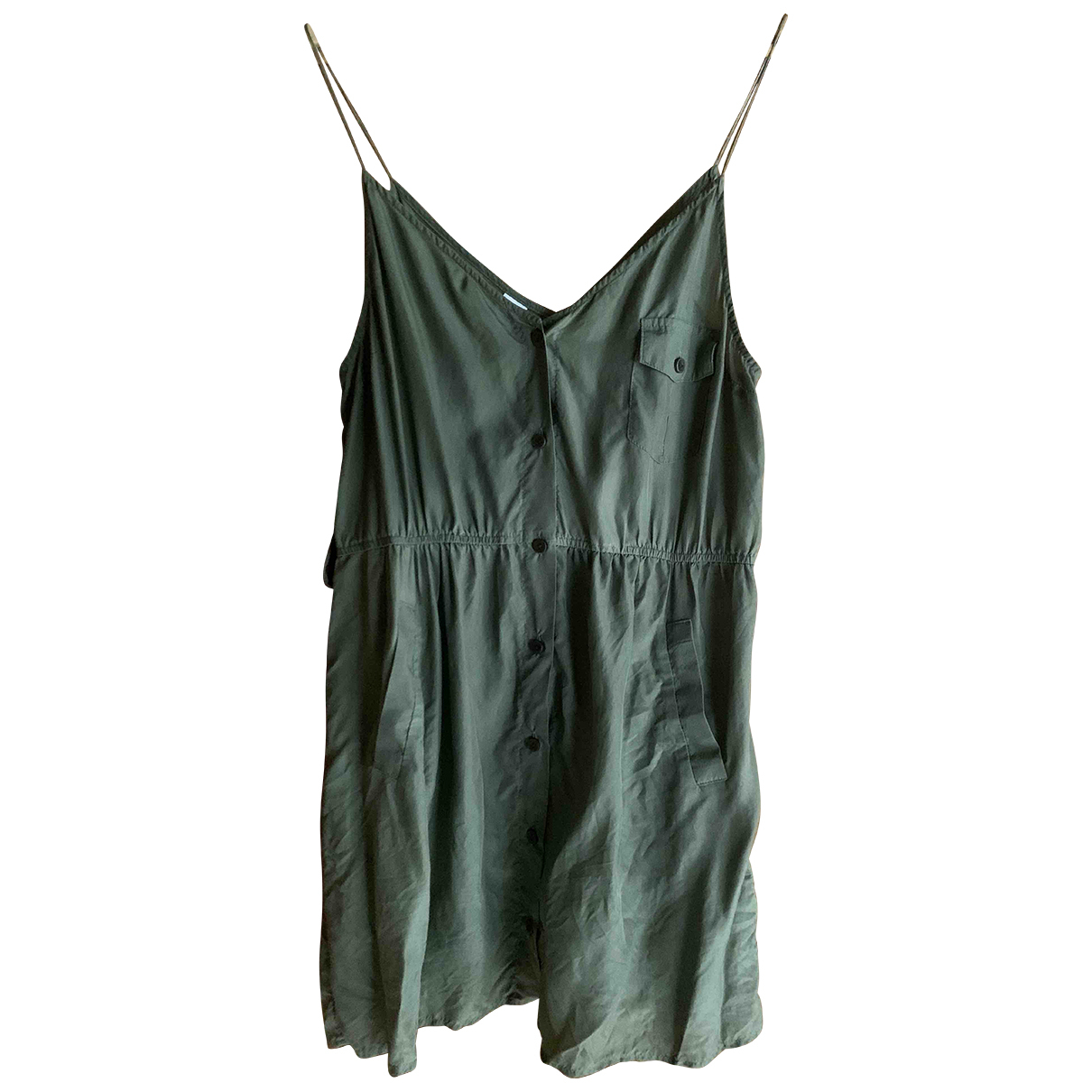 Zimmermann \N Khaki Silk dress for Women L International