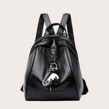 Mochila minimalista con accesorio de bolso