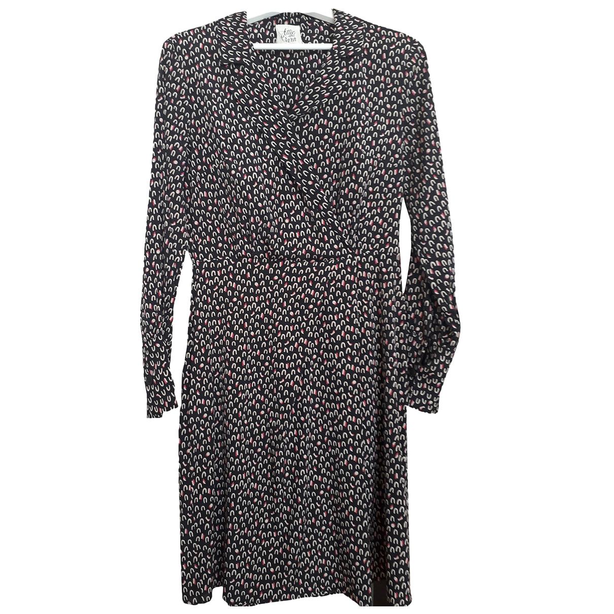 Attic And Barn - Robe   pour femme en soie - noir