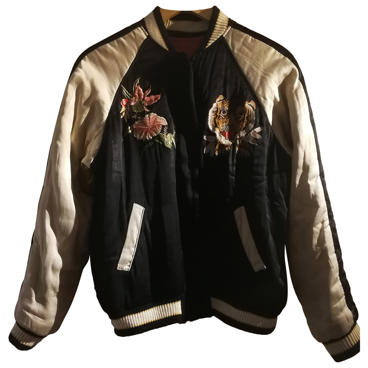 Isabel Marant \N Black Silk Leather jacket for Women 38 FR