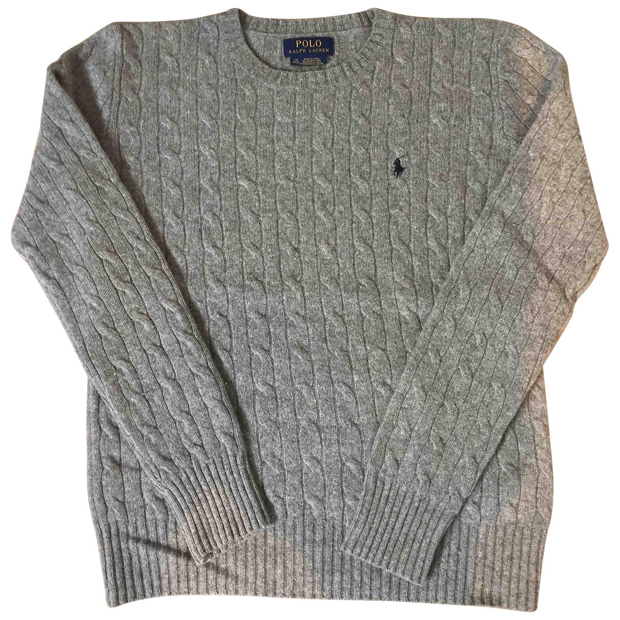 Polo Ralph Lauren - Pull   pour enfant en laine - gris