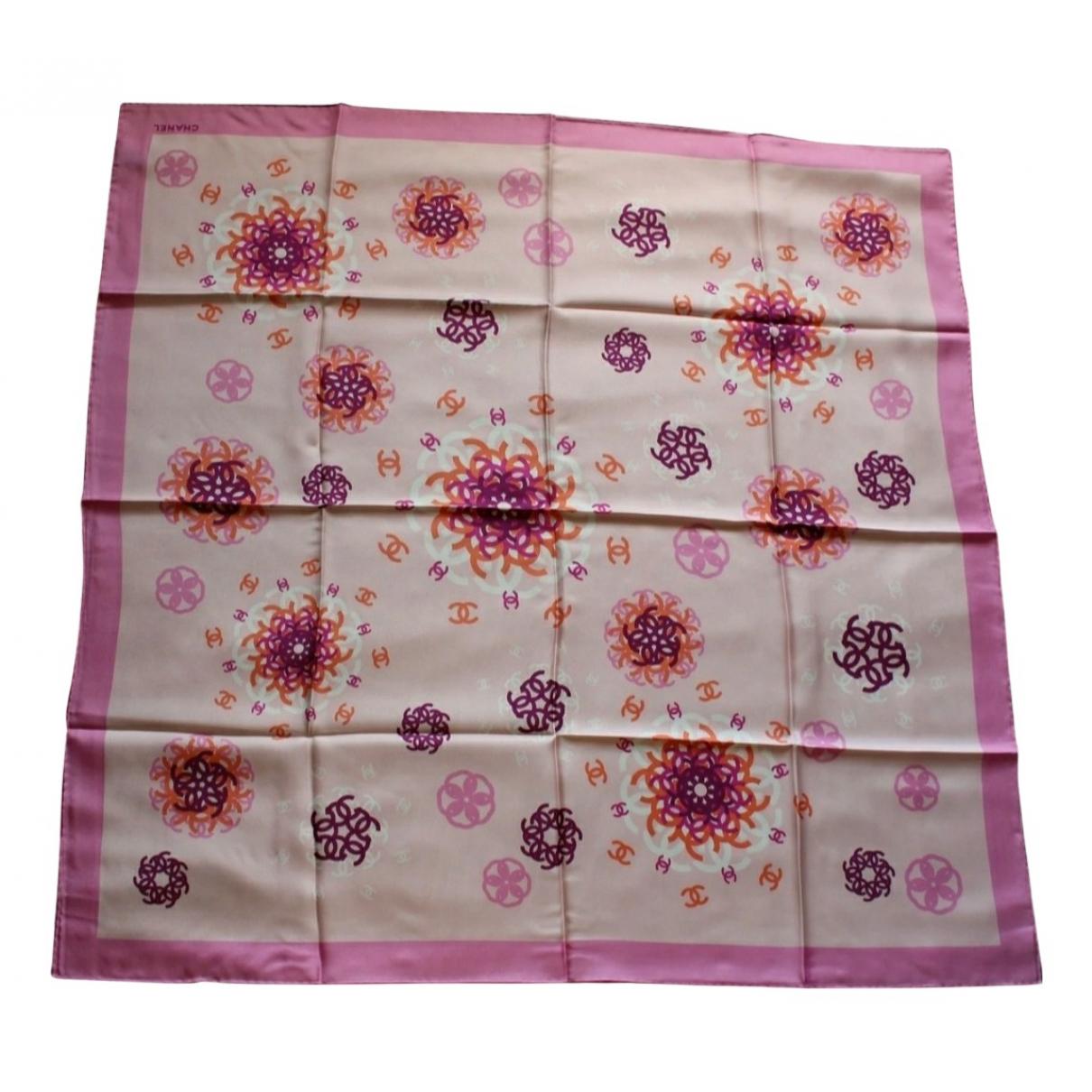 Chanel - Foulard   pour femme en soie - violet