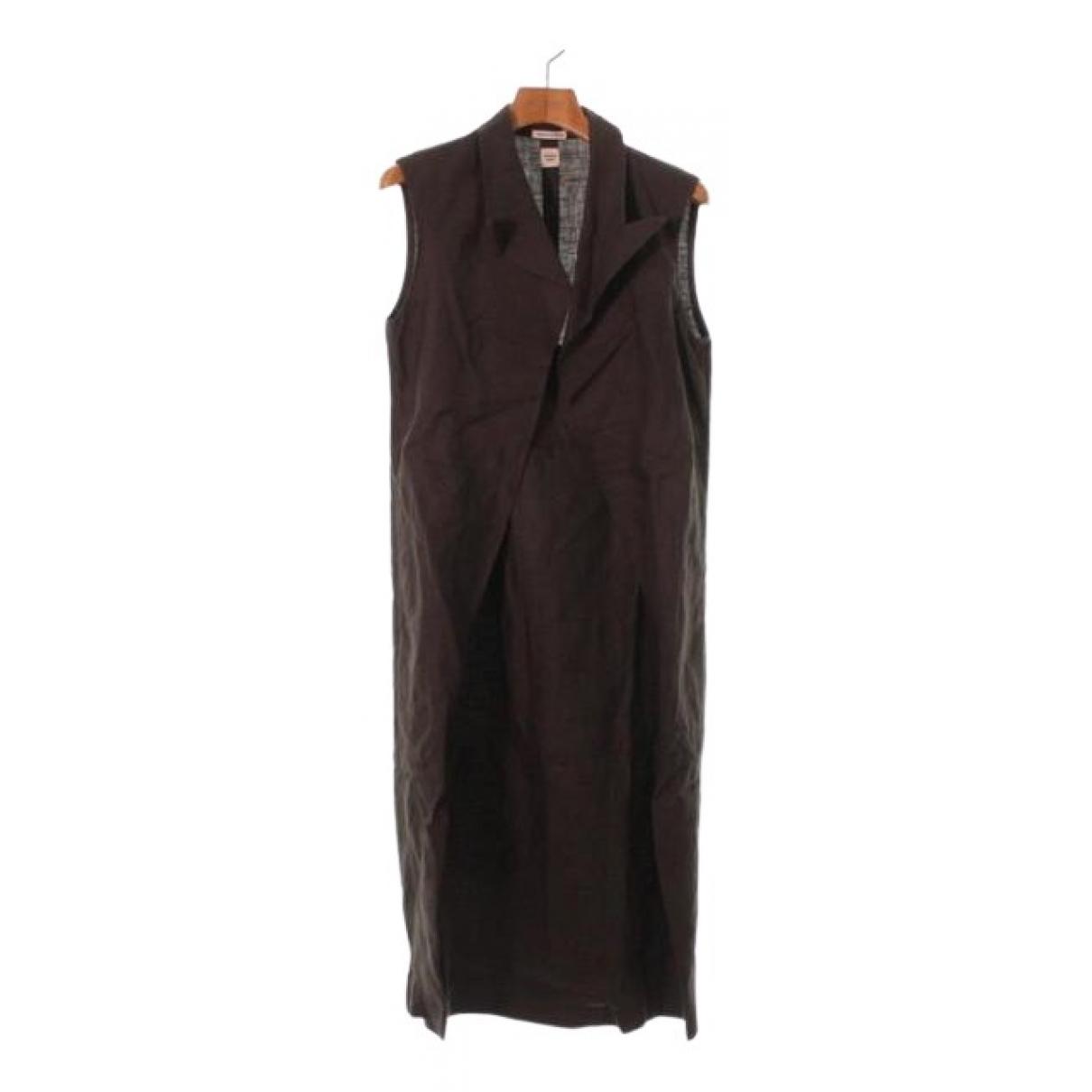 Hermès \N Brown Linen dress for Women 34 FR