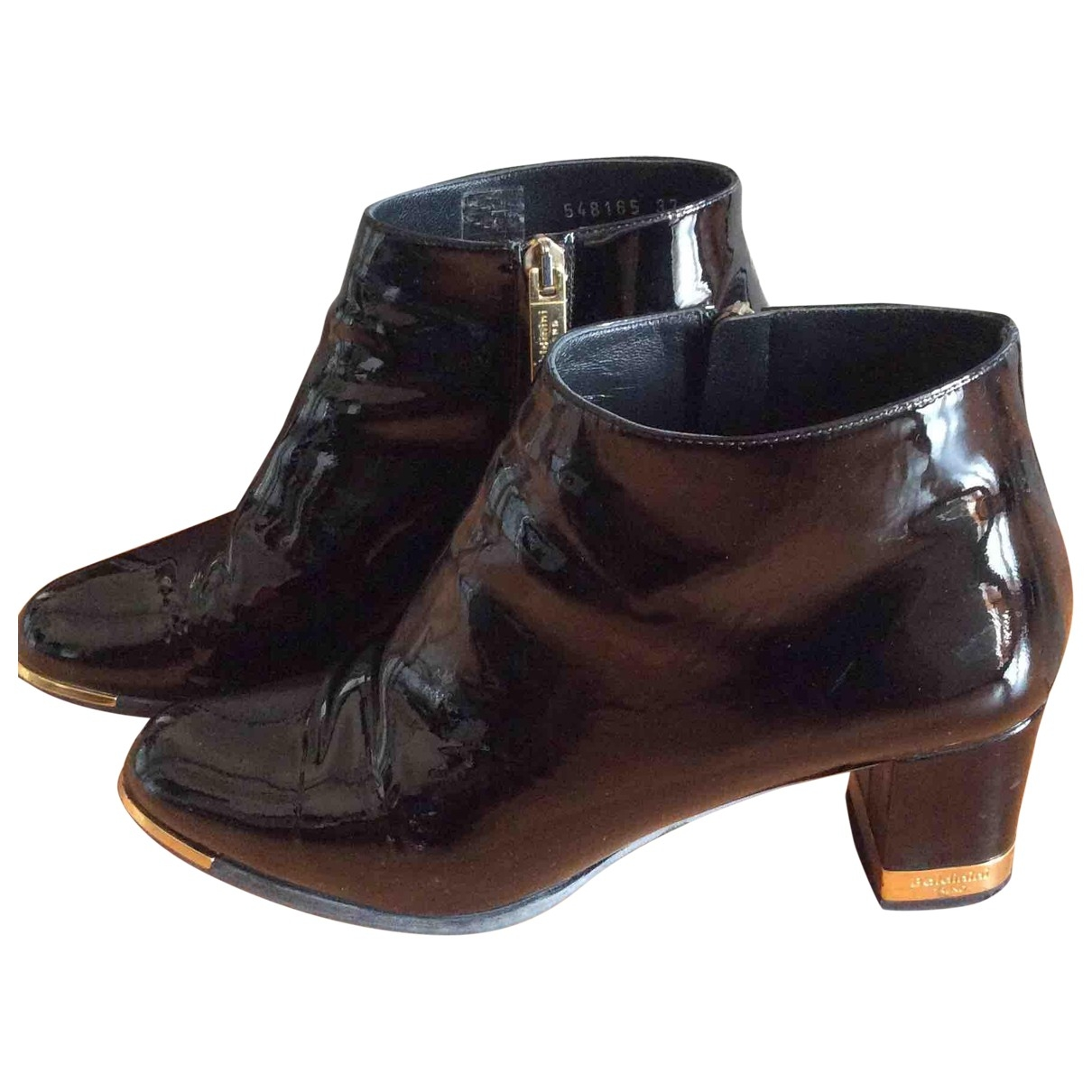 Baldinini \N Black Patent leather Ankle boots for Women 37 IT