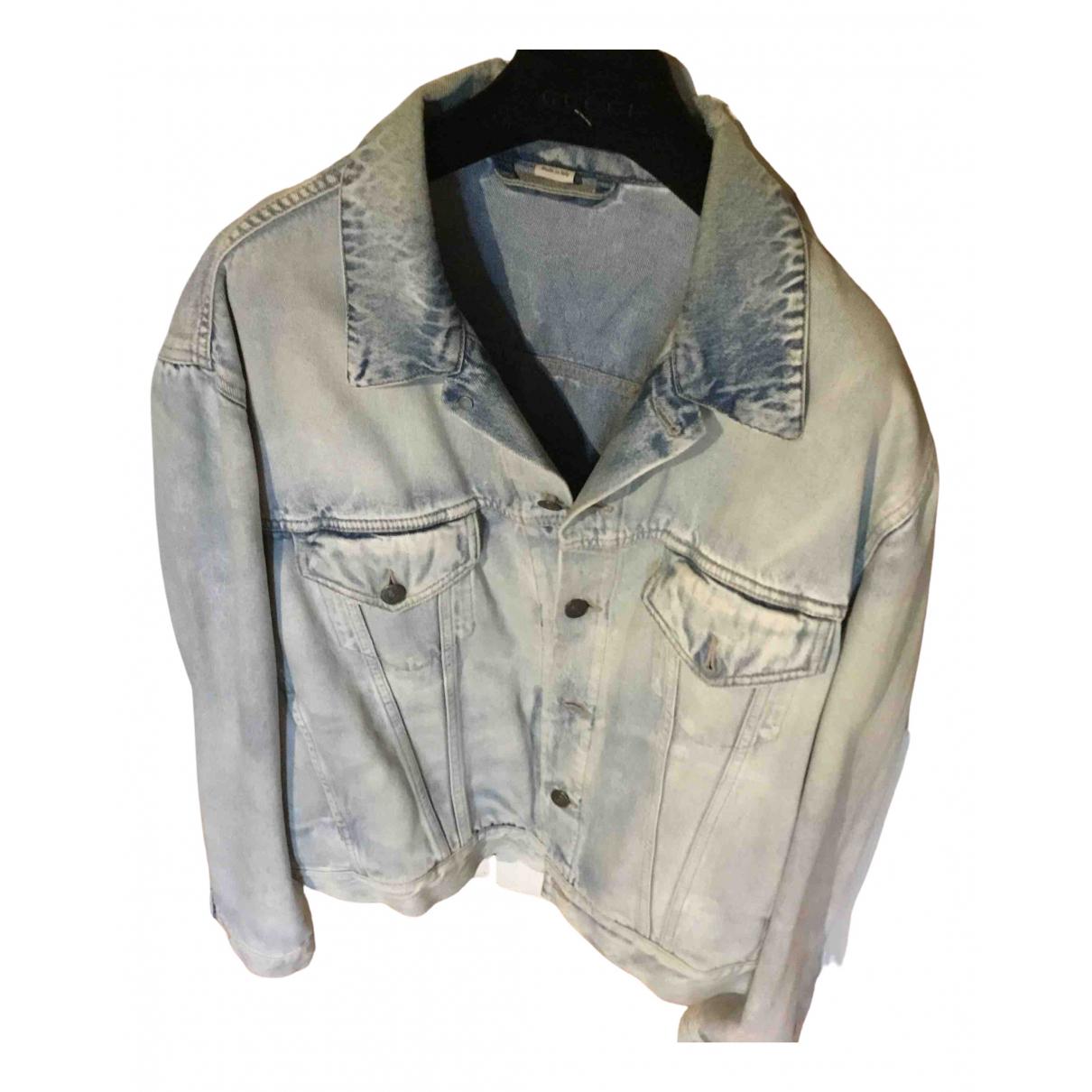 Gucci \N Blue Denim - Jeans jacket  for Men 56 FR
