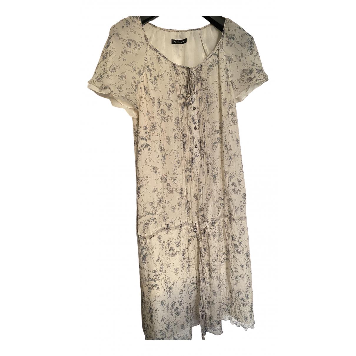 Massimo Dutti \N Kleid in  Bunt Seide