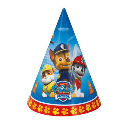 Paw Patrol 8 Party Hats For Birthday Party