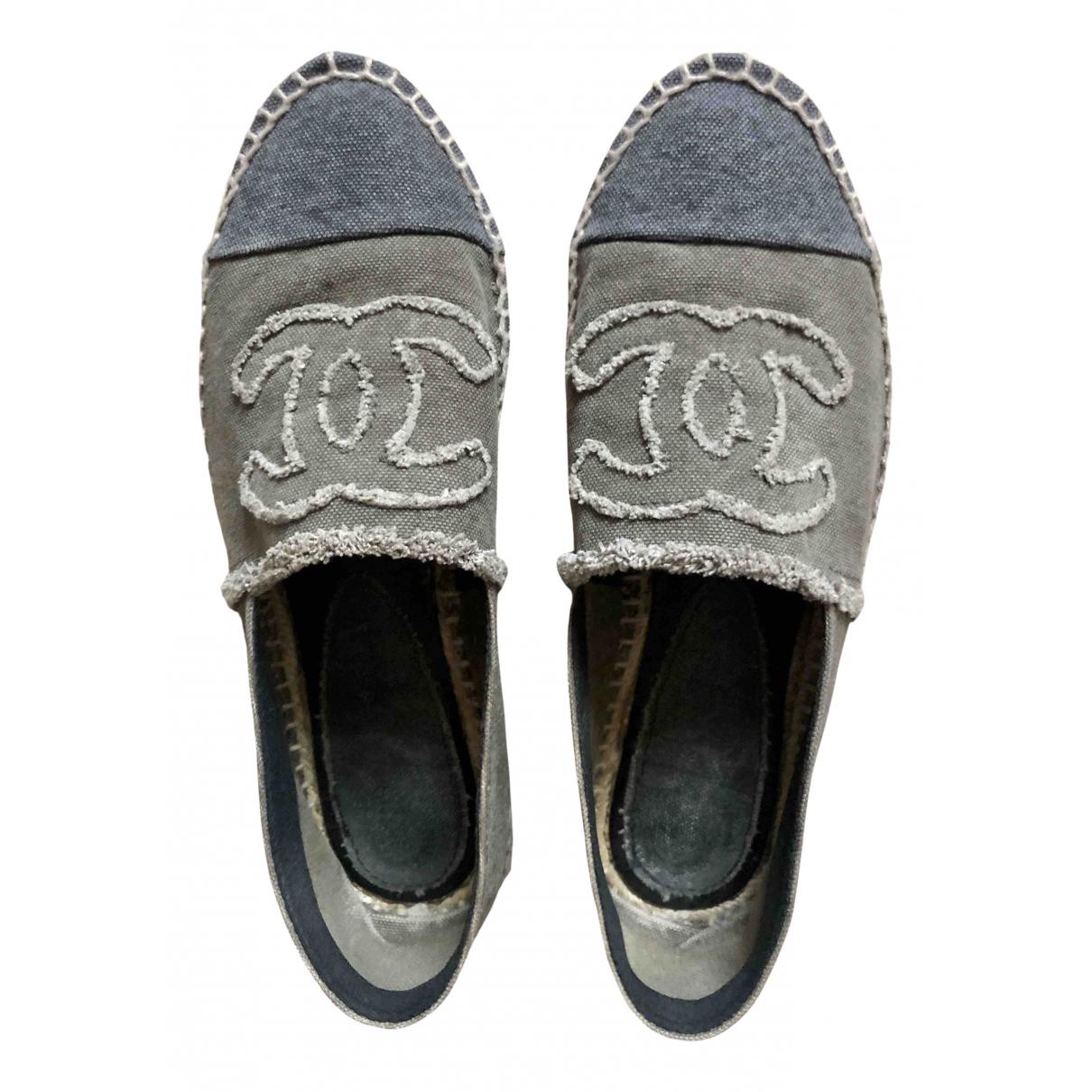 Chanel \N Espadrilles in  Grau Leinen