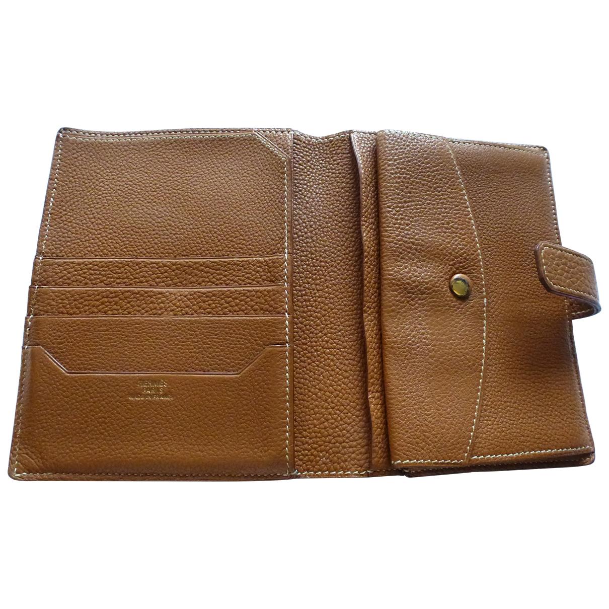 Hermès \N Camel Leather wallet for Women \N