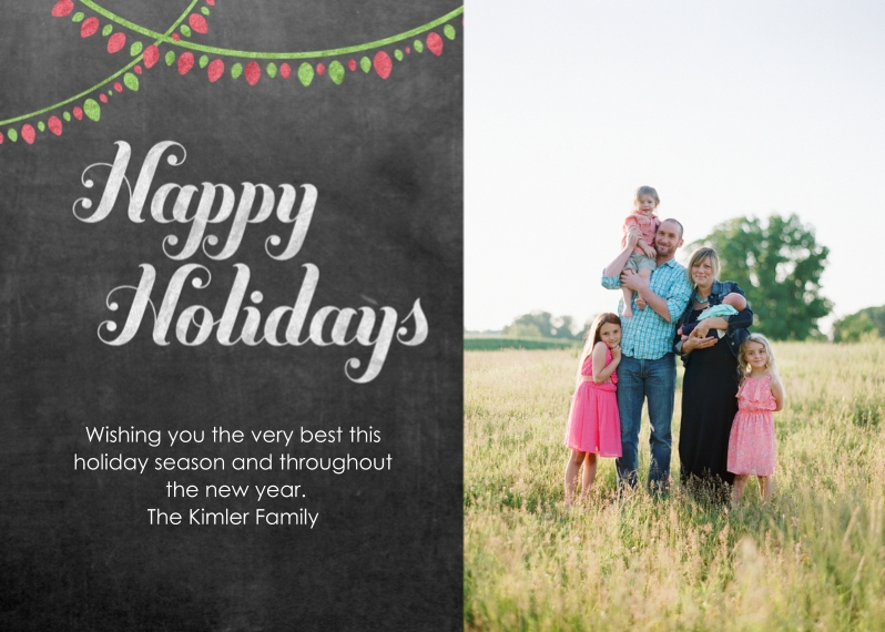 Holiday Photo Cards 5x7 Cards, Premium Cardstock 120lb with Rounded Corners, Card & Stationery -Holiday Lights