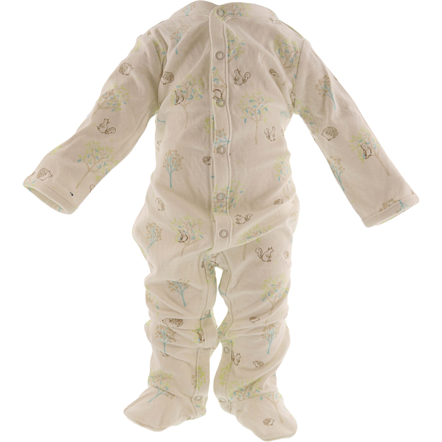 Janie And Jack White / Multicoloured Meadow Print Footed One Piece One-Piece Pajama - 3-6 Months
