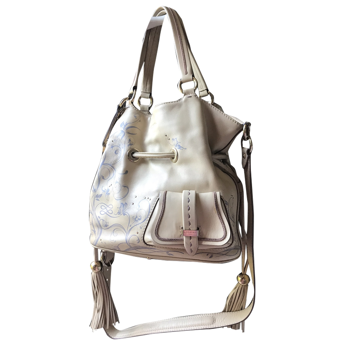 Lancel 1er Flirt Beige Leather handbag for Women \N