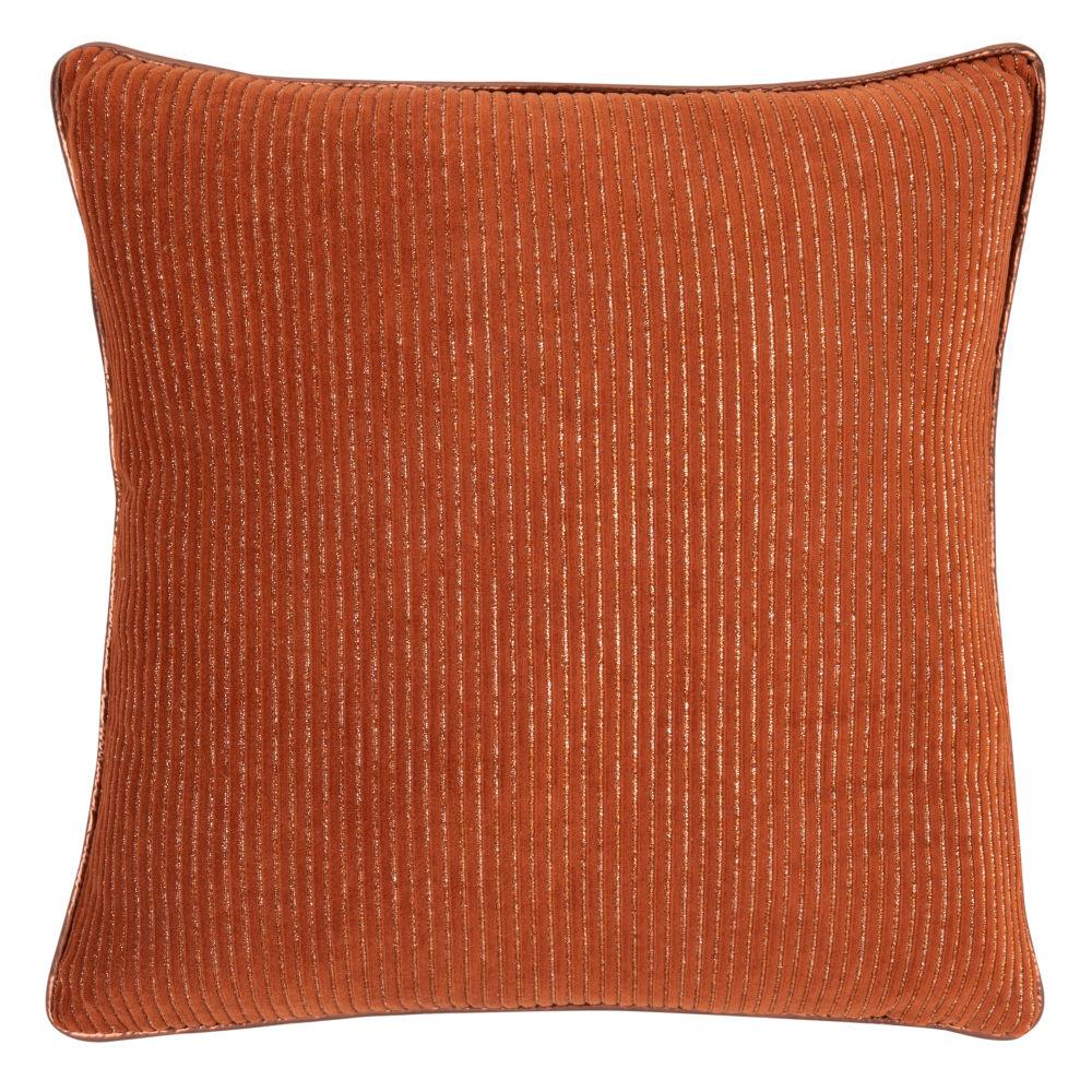 Kissenbezug aus Samt, orange und goldfarben 40x40