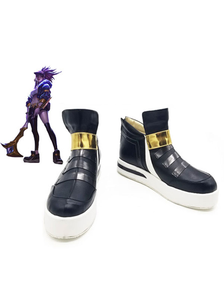 Milanoo League Of Legends LOL KDA Akali Halloween Cosplay Shoes