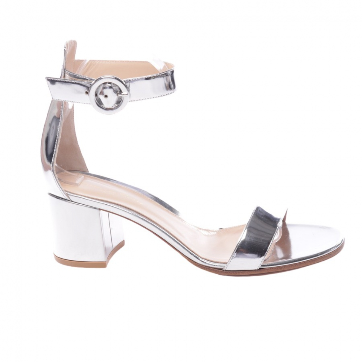 Gianvito Rossi Versilia Metallic Leather Sandals for Women 40 EU
