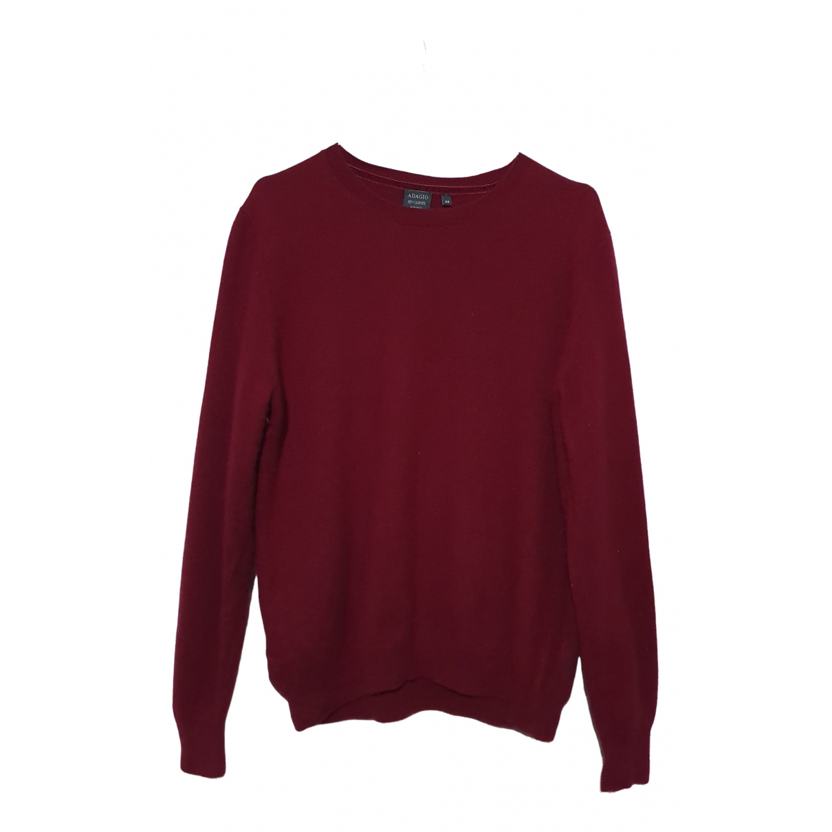 Non Signé / Unsigned N Burgundy Cashmere Knitwear for Women 44 FR