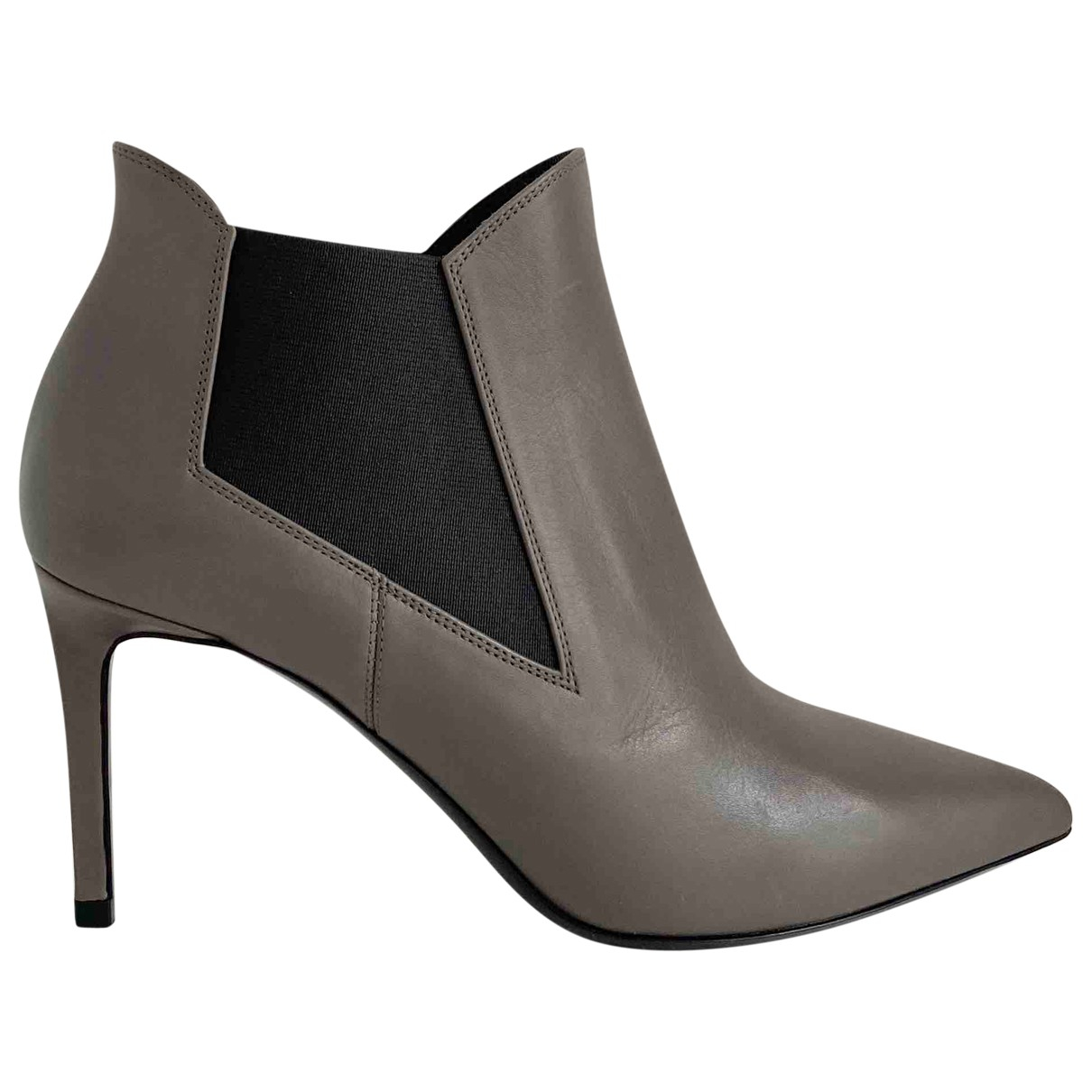 Saint Laurent \N Stiefel in  Grau Leder