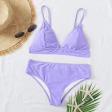 Dreieckiger Bikini Badeanzug