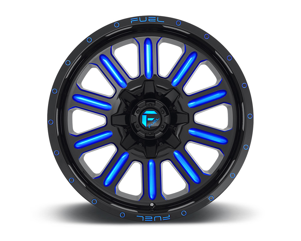 Fuel D646 Hardline Gloss Black w/ Candy Blue 1-Piece Cast Wheel 22x12 6x135|6x139.7 -45mm