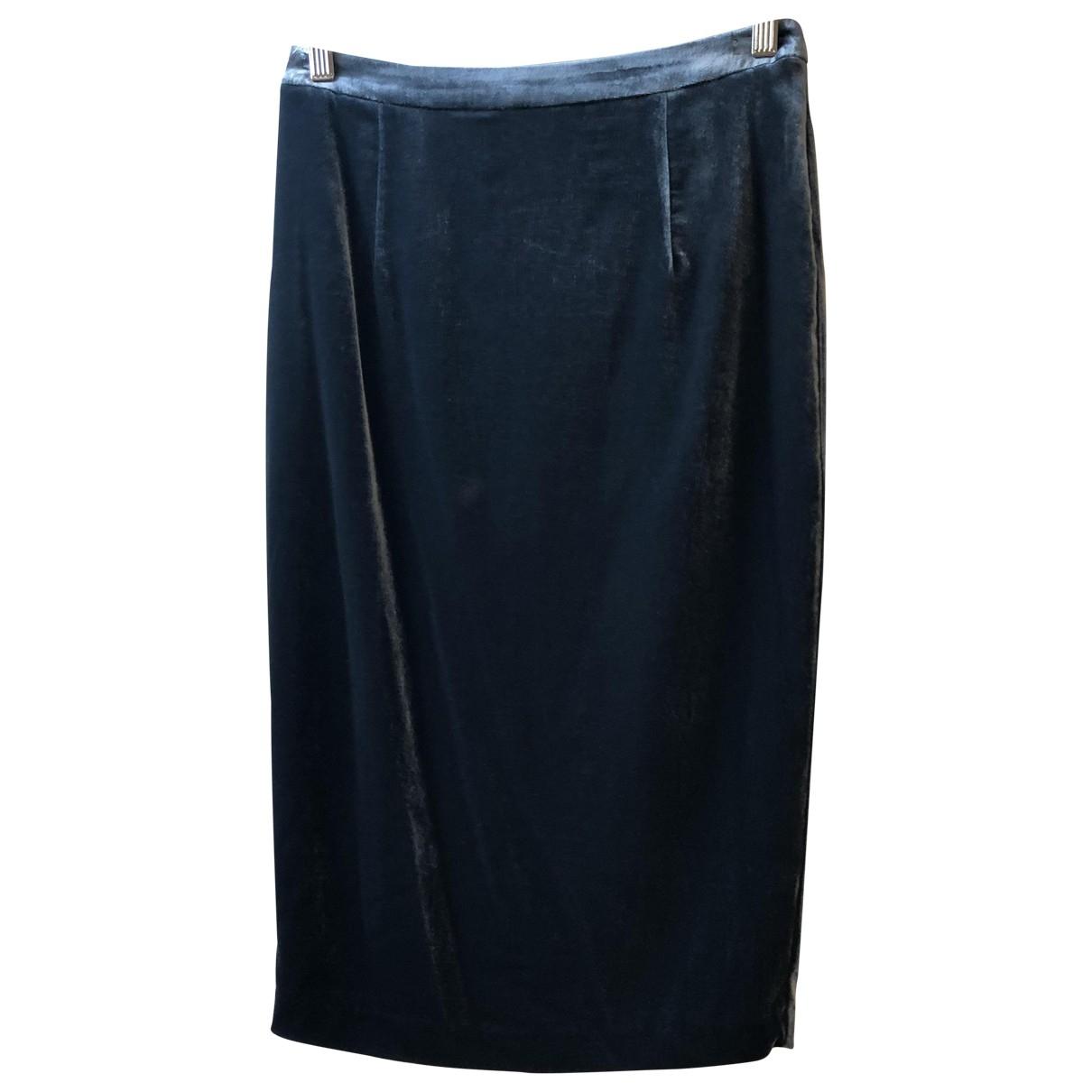 Non Signé / Unsigned \N Blue Velvet skirt for Women 10 UK