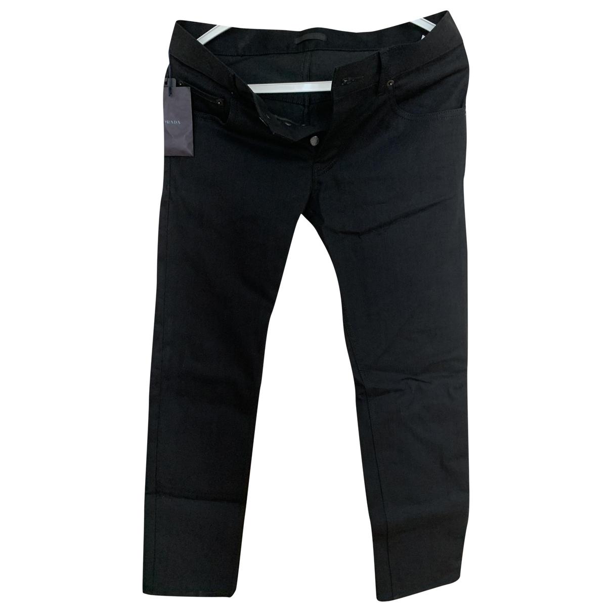 Prada \N Black Cotton Jeans for Men 29 US