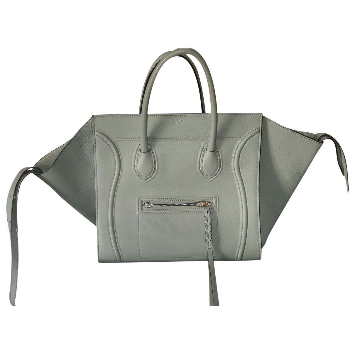 Celine Luggage Phantom Khaki Leather handbag for Women \N