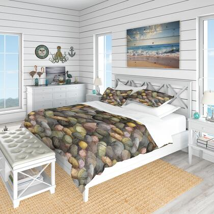 BED18596-K Designart 'Sea & Shore Stones' Nautical & Coastal Duvet Cover
