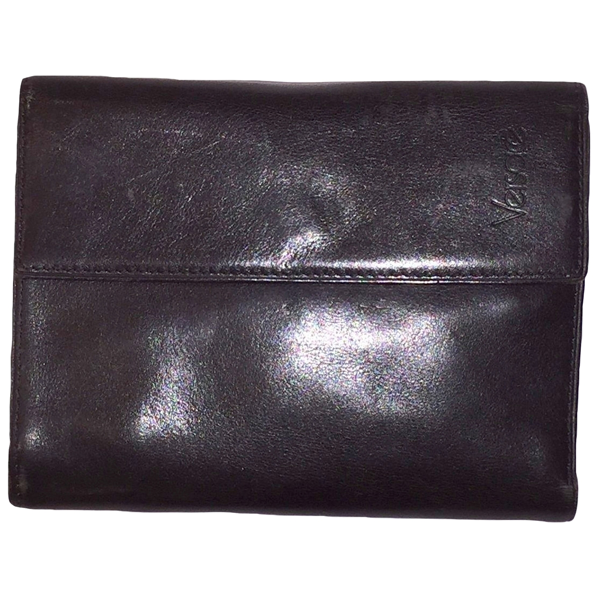 Gianni Versace \N Black Leather wallet for Women \N