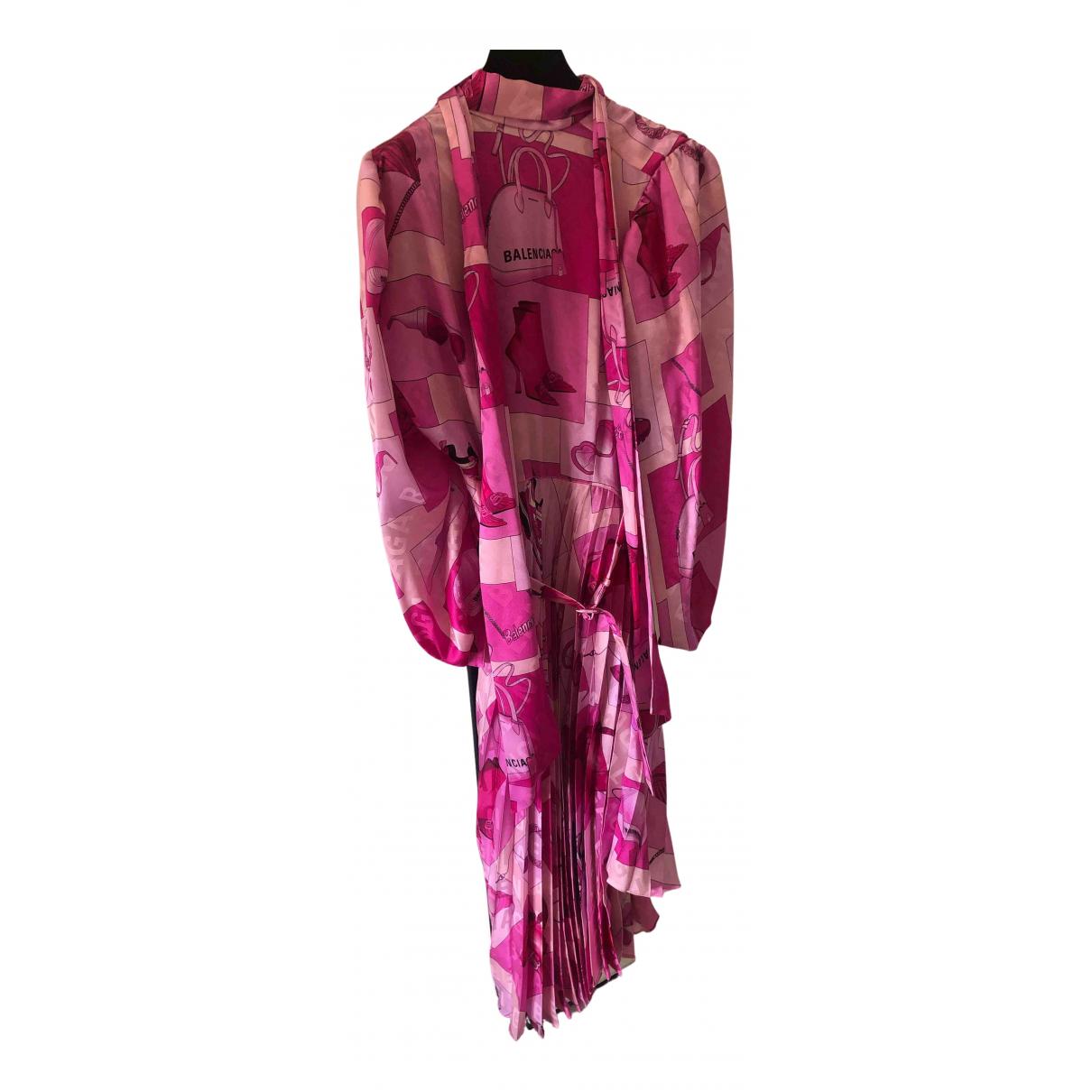 Balenciaga N Pink Silk dress for Women 36 IT