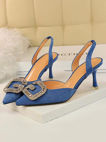 Milanoo Zapatos de tacon alto para mujer Zapatos de tacon alto con punta ungulada negra Zapatos de mujer para el trabajo