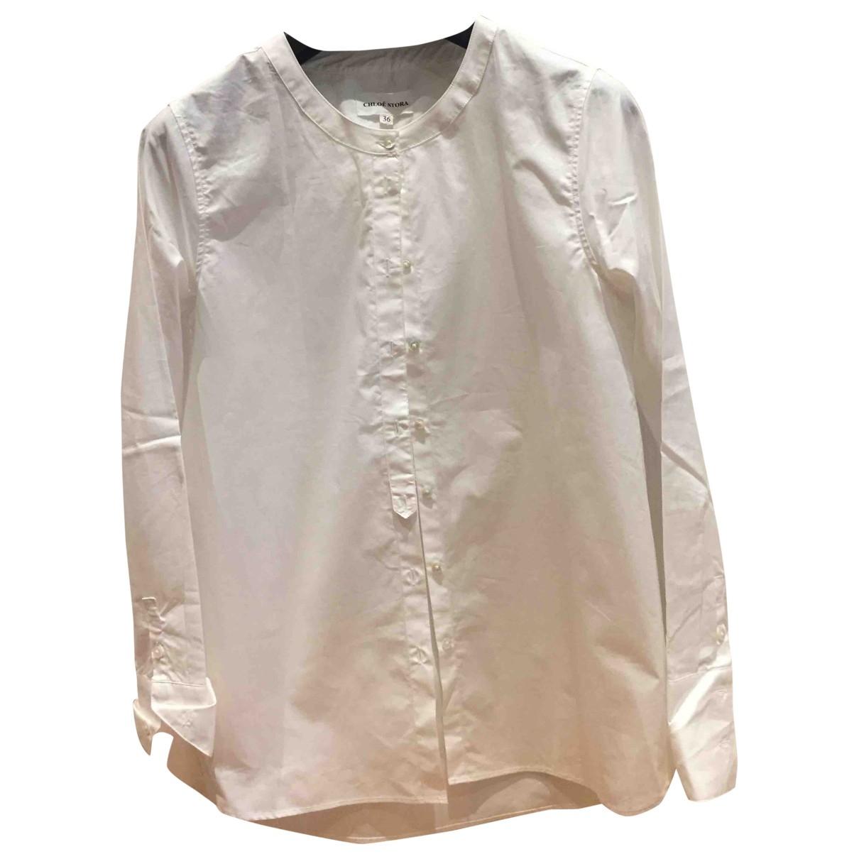 Chloe Stora - Top   pour femme en coton - blanc