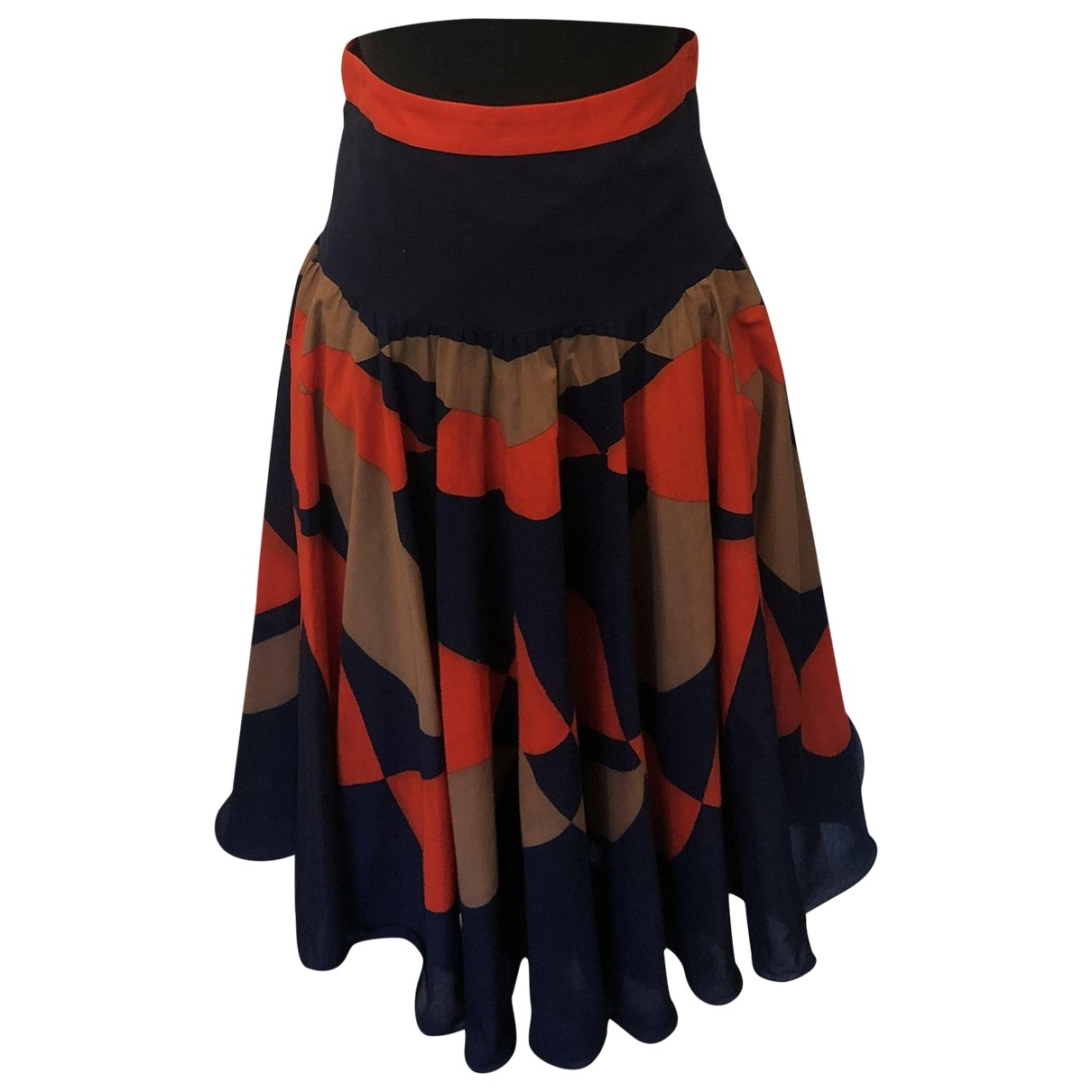 Milly \N Multicolour Cotton skirt for Women 2 US