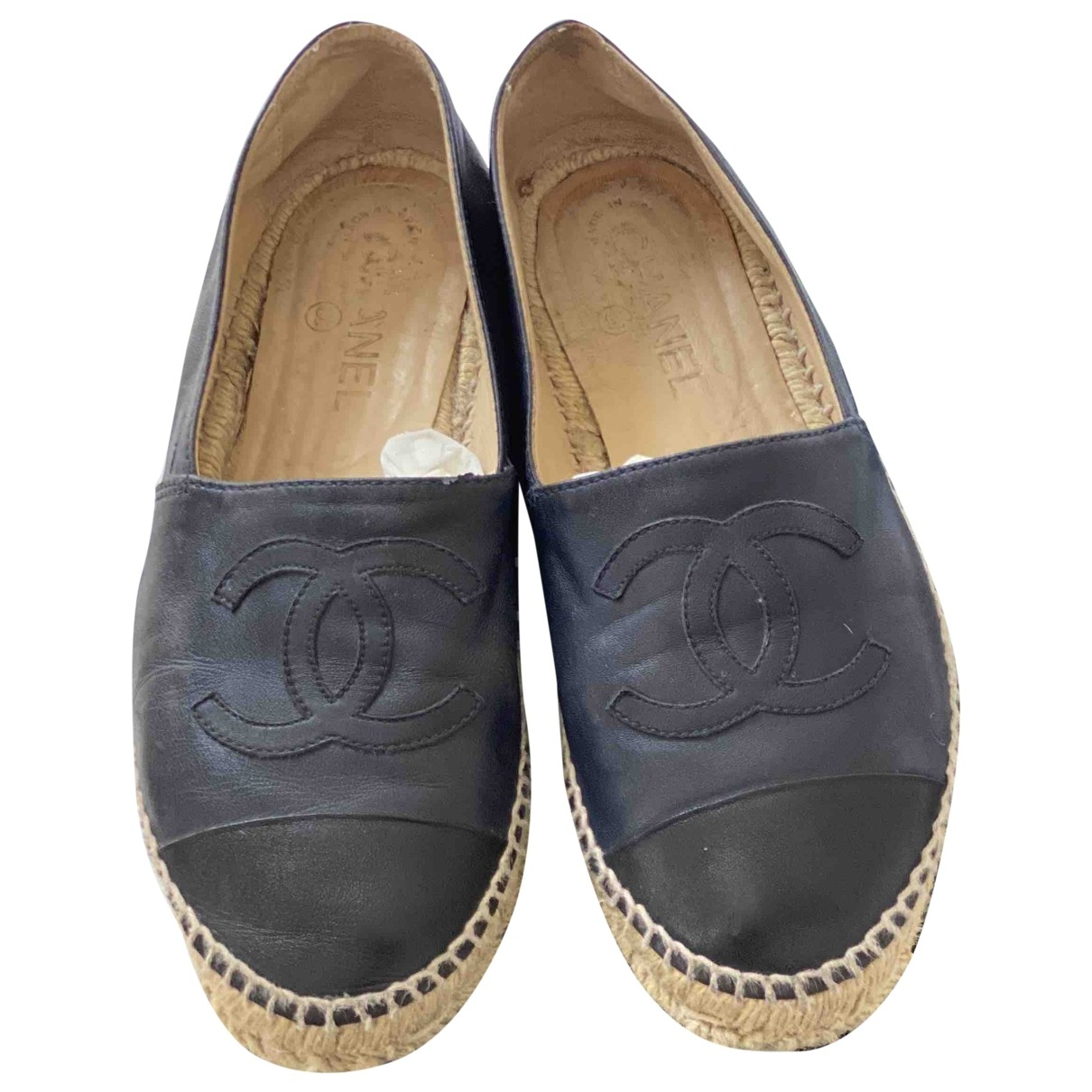Chanel \N Blue Leather Espadrilles for Women 39 EU