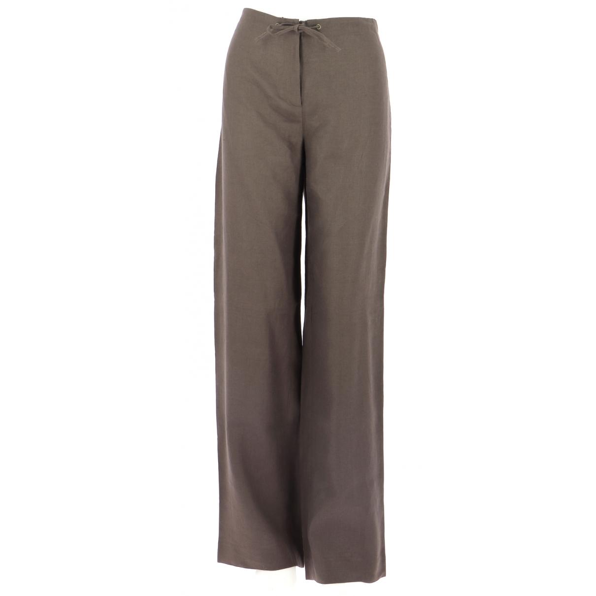 Gerard Darel \N Brown Linen Trousers for Men 44 FR