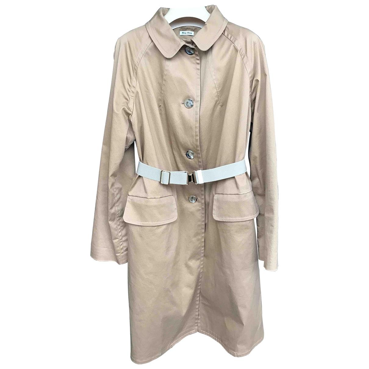 Miu Miu - Trench   pour femme en coton - beige