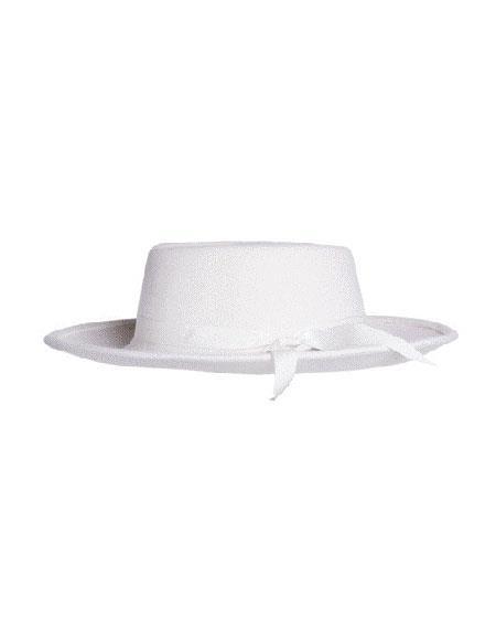 Mens Wide Brim Fedora Off White Earp Zoot Hat