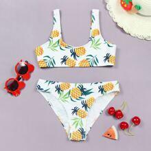 Bikini Badeanzug mit Ananas Muster
