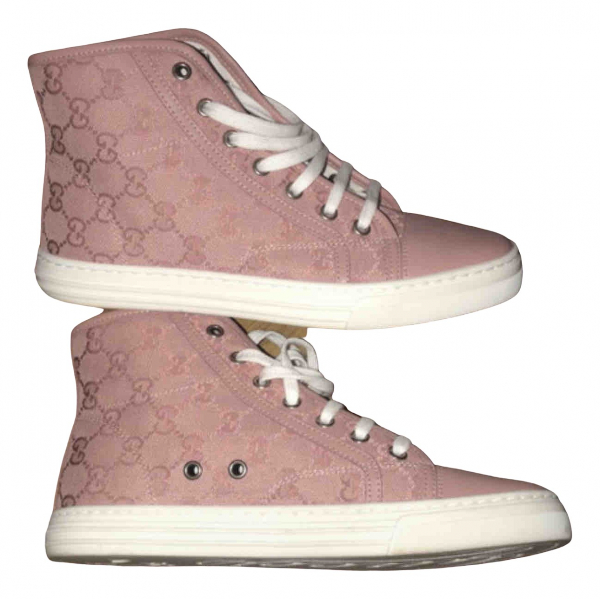 Gucci \N Pink Cloth Trainers for Women 37 EU