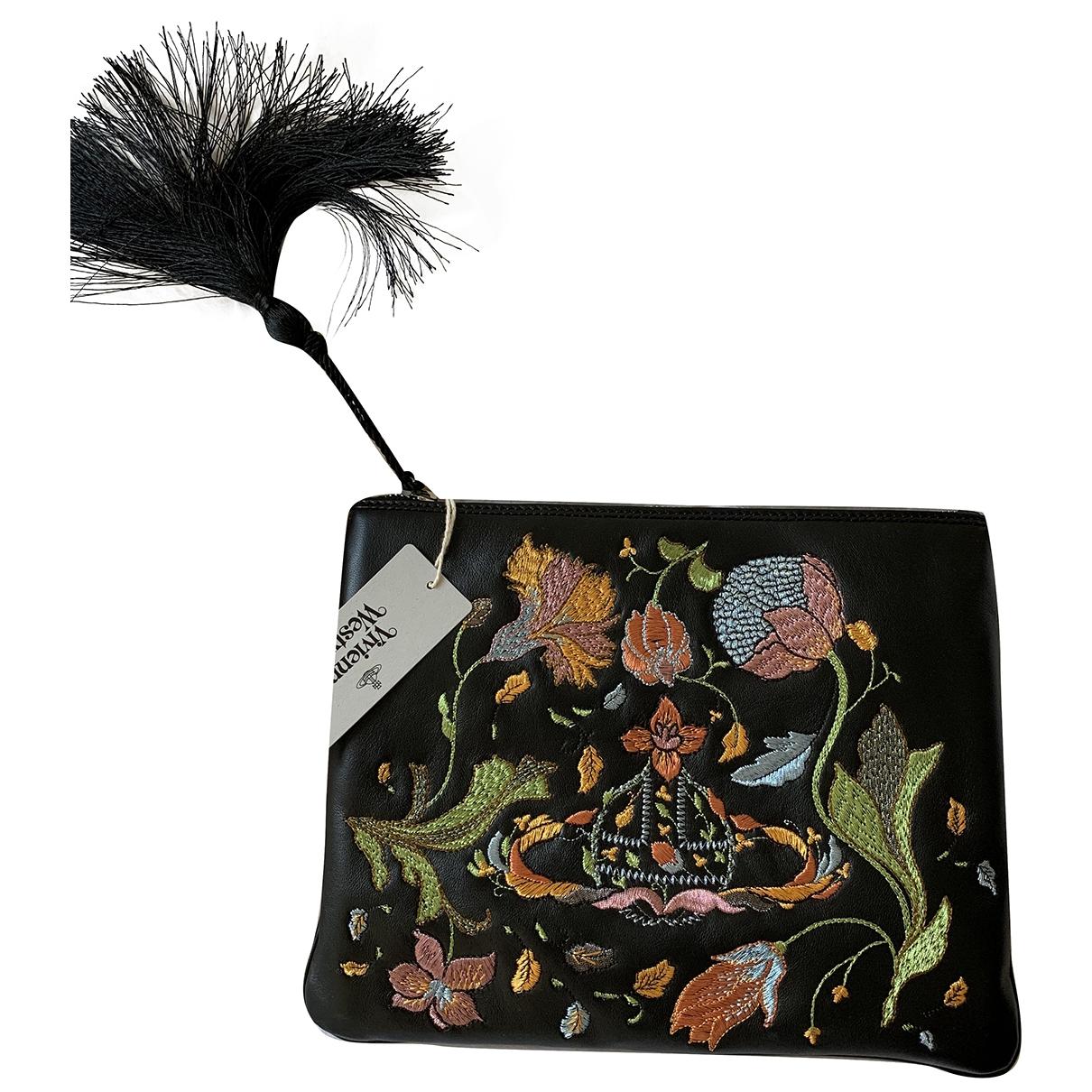 Vivienne Westwood \N Black Leather Clutch bag for Women \N