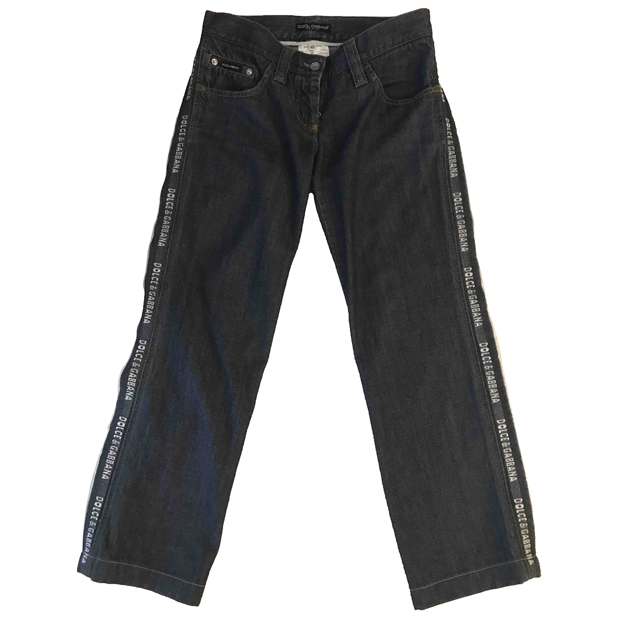 Dolce & Gabbana \N Blue Cotton Trousers for Women 40 IT