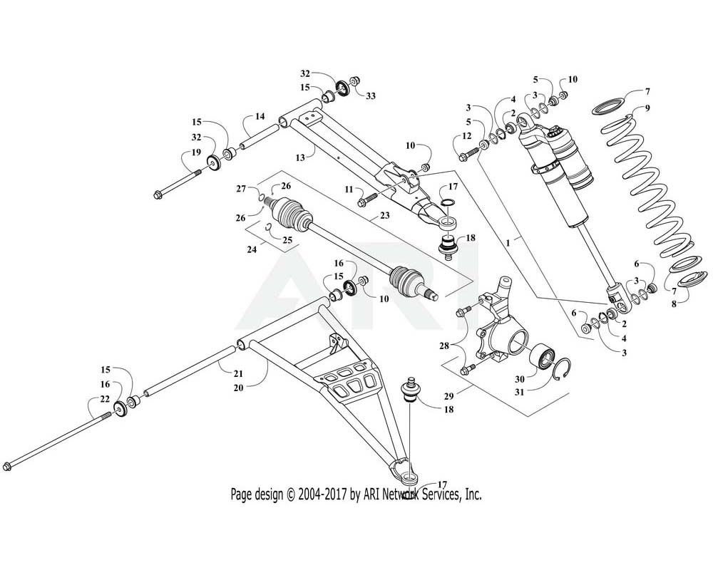 Arctic Cat OEM 1503-033 A Arm Front Upper Left Hand Tag Assembly | (Inc.14 18)