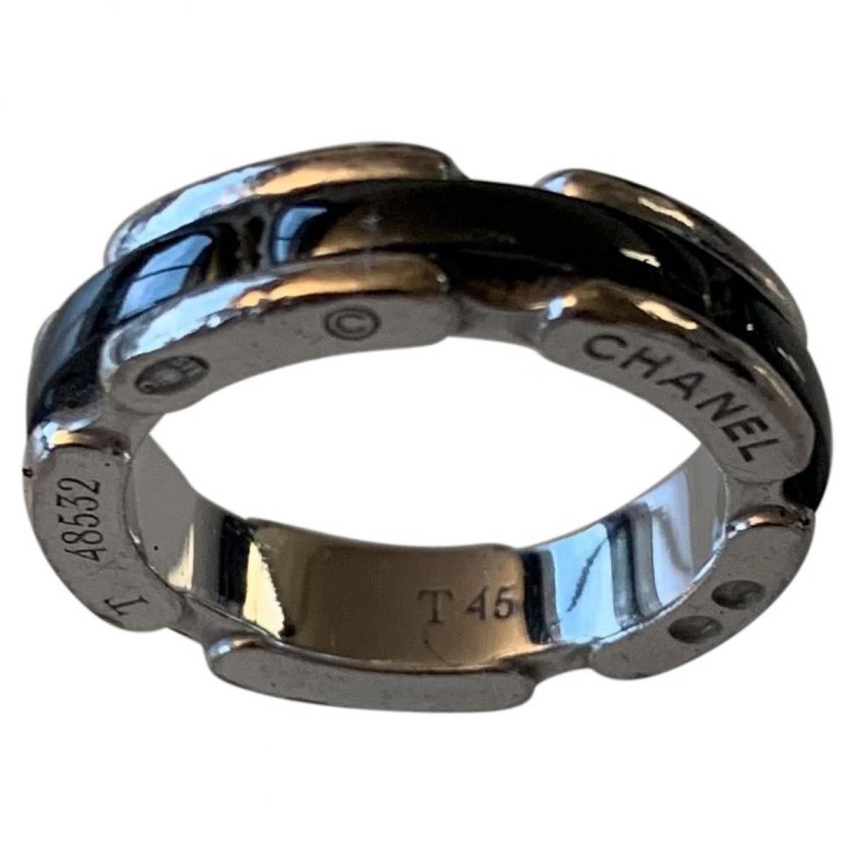 Chanel Ultra Ring in  Schwarz Weissgold