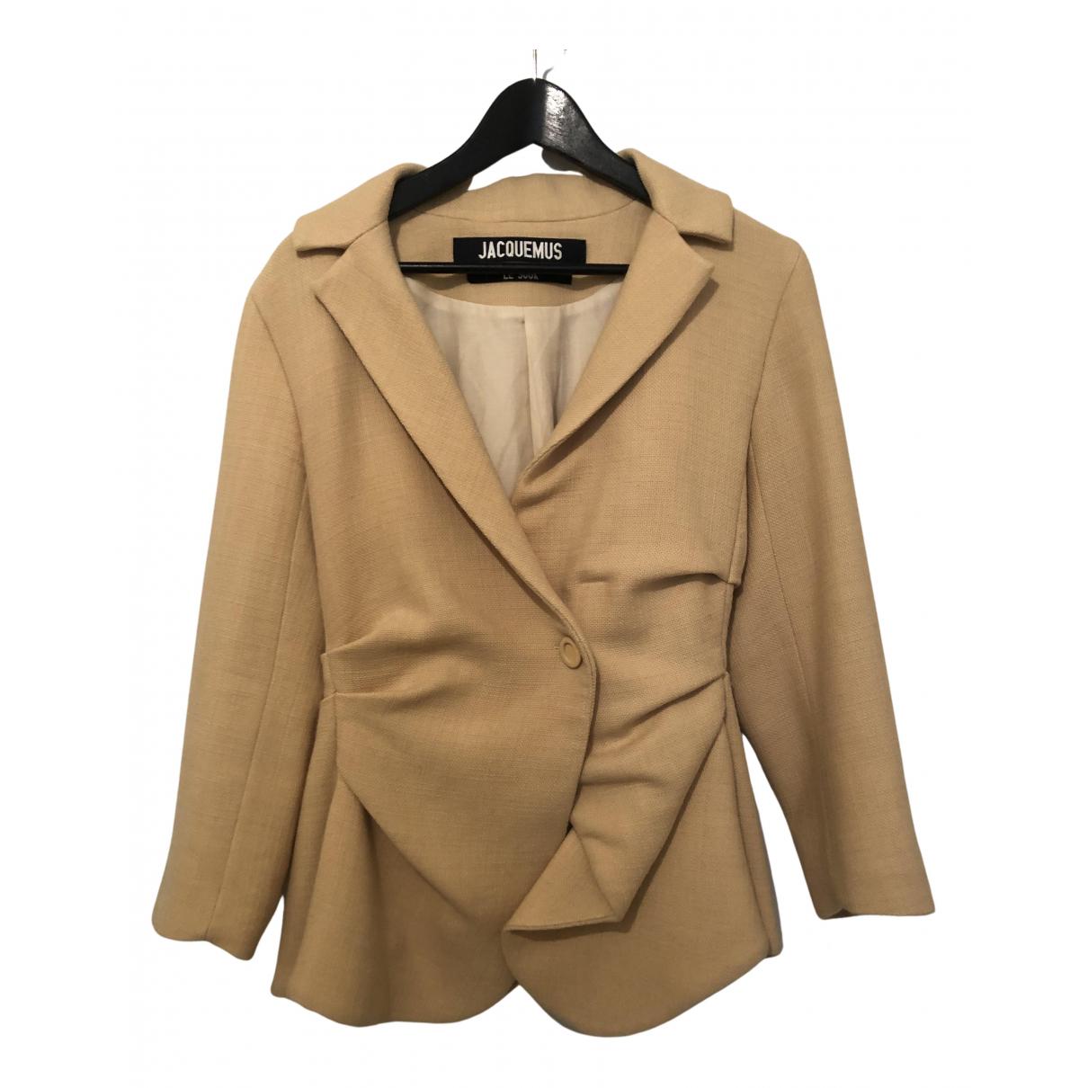 Jacquemus - Veste Le Souk pour femme en laine - jaune