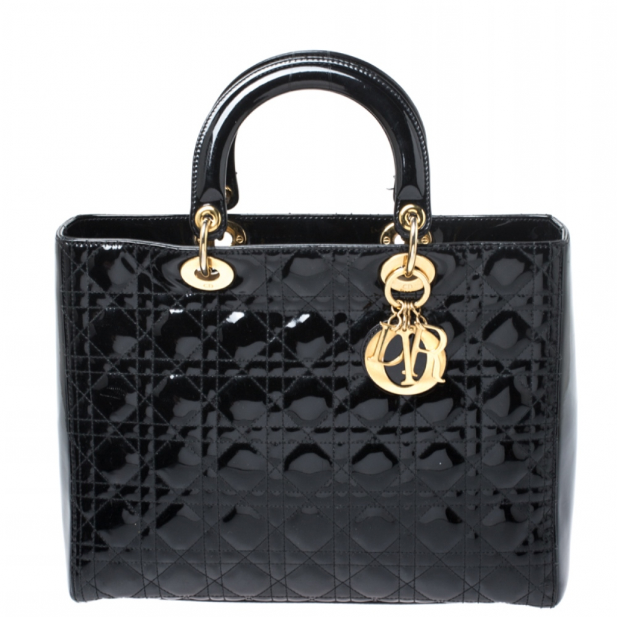 Dior \N Black Patent leather handbag for Women \N