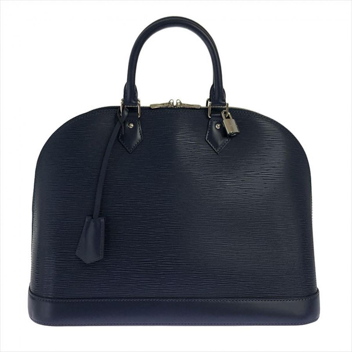 Louis Vuitton Alma Handtasche in  Marine Leder